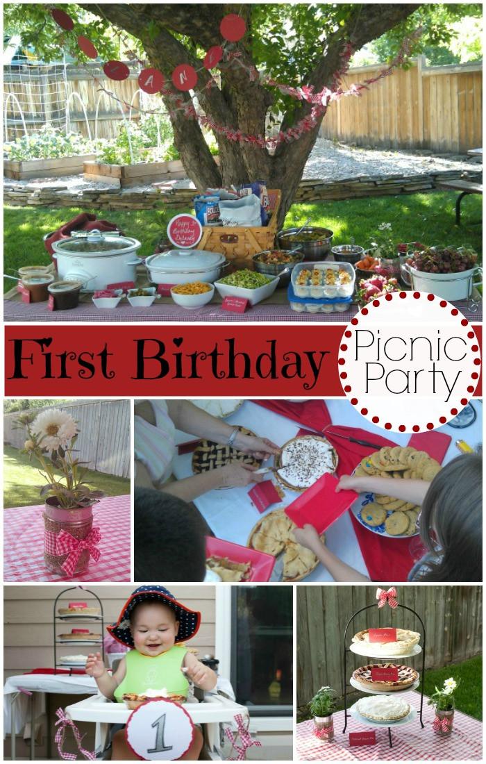 Picnic Birthday Party Ideas  A Picnic Themed Birthday Party Evolving Motherhood
