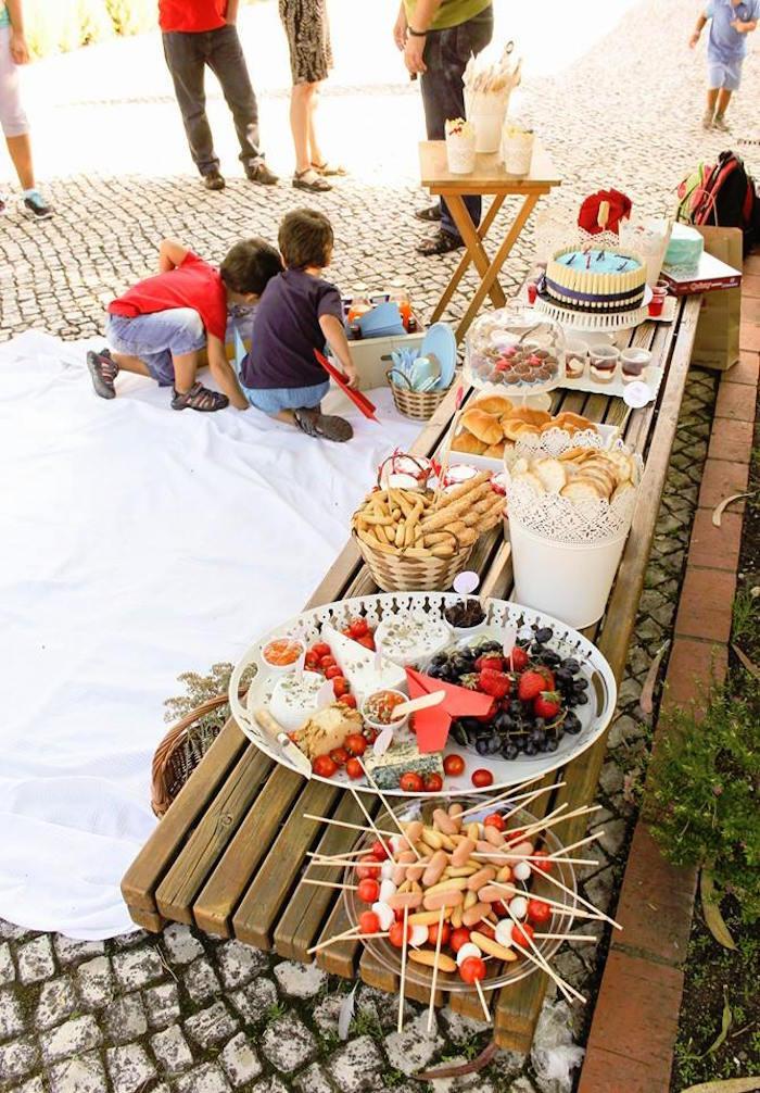 Picnic Birthday Party Ideas  Kara s Party Ideas Picnic in the Clouds Birthday Party