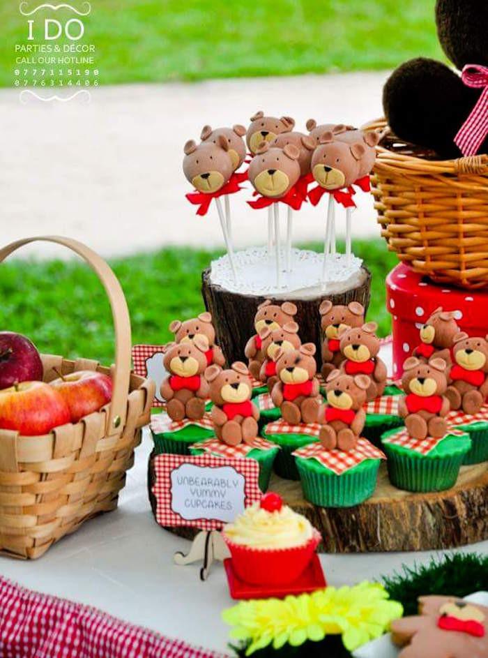 Picnic Birthday Party Ideas  Kara s Party Ideas Teddy Bear Birthday Party Picnic