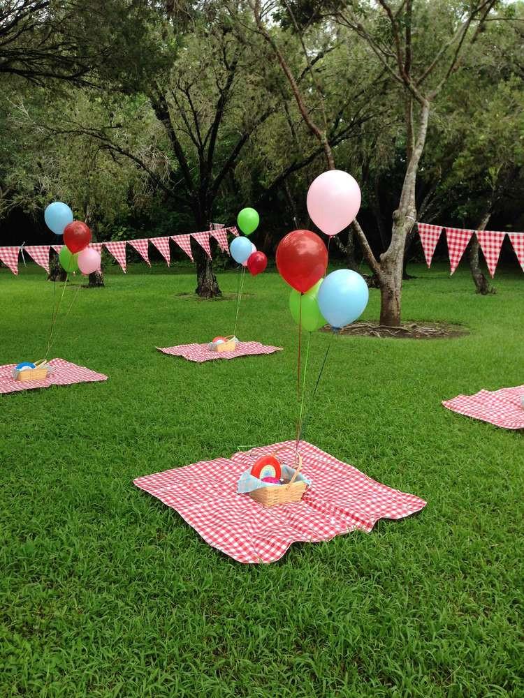 Picnic Birthday Party Ideas  Garden Themed First Birthday Party Decor Ideas Kid Transit