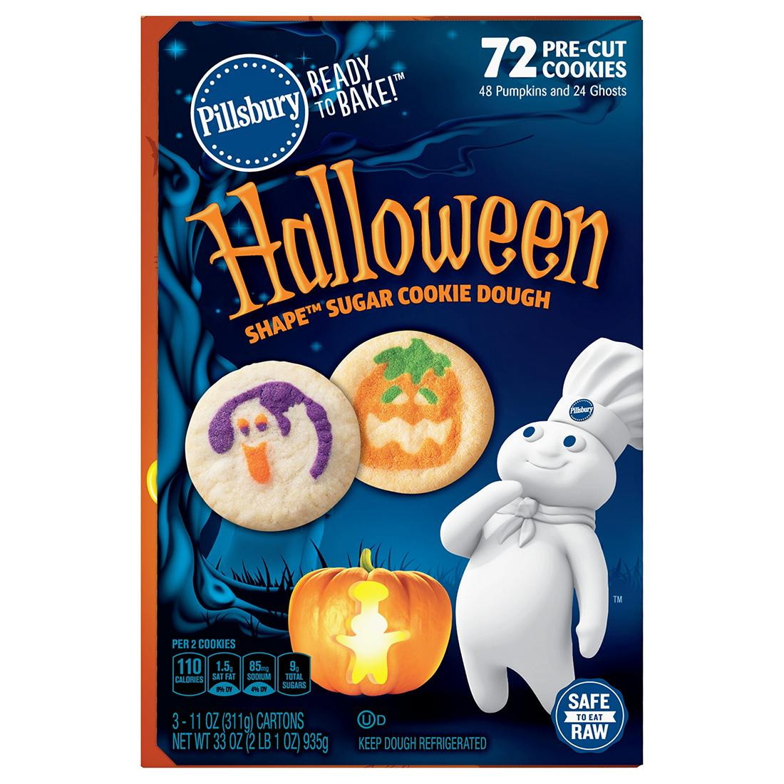 Pillsbury Halloween Sugar Cookies  Pillsbury Halloween Cookies 3 ct 11 oz BJs WholeSale Club