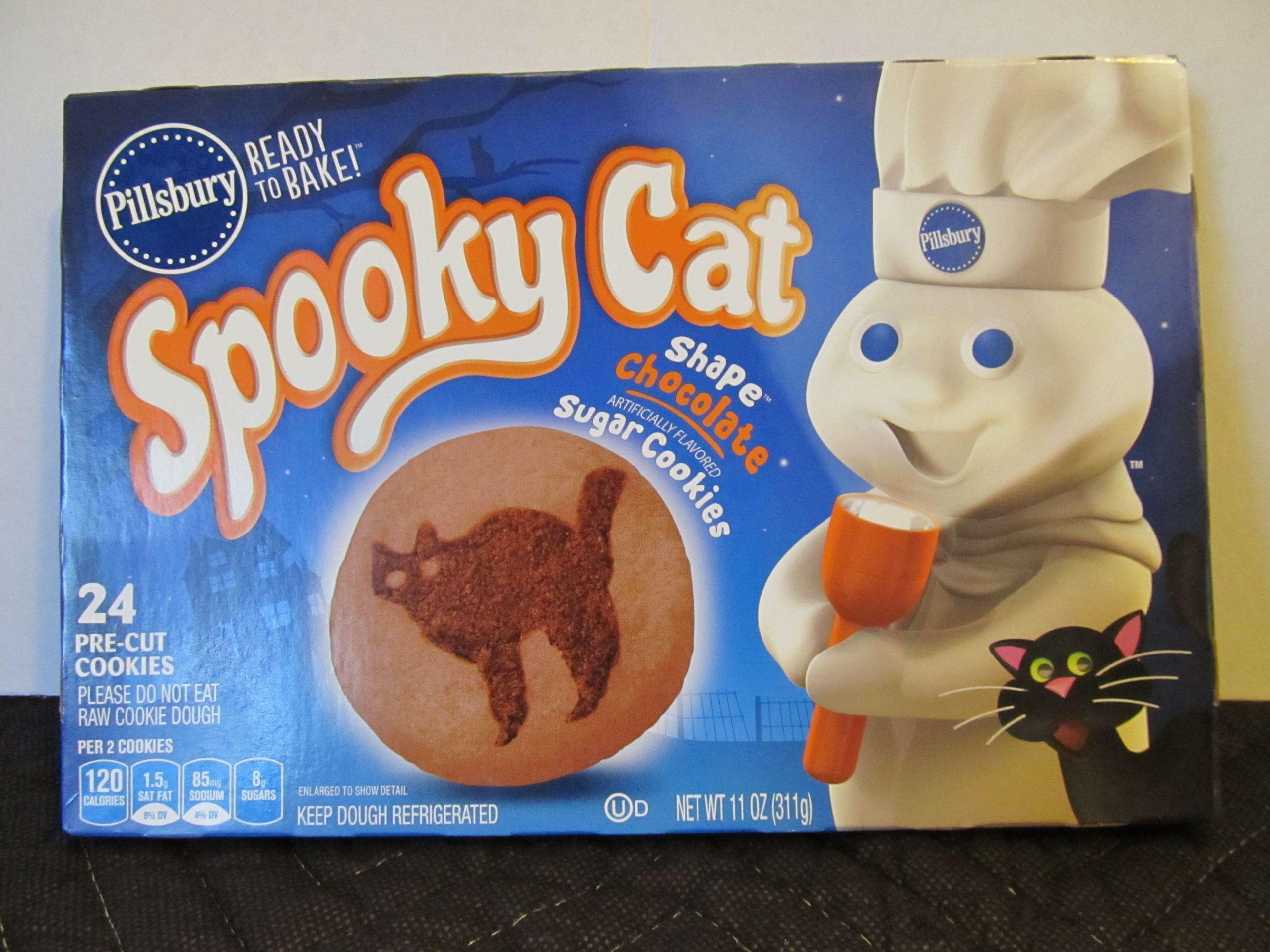 Pillsbury Halloween Sugar Cookies  Pillsbury Halloween Cookies Spooky Cat 2014 Package