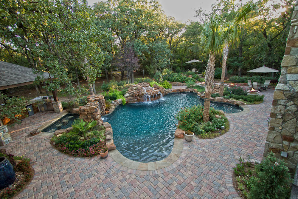 Pool Landscape Design  Pool & Spa Dallas Landscape Design