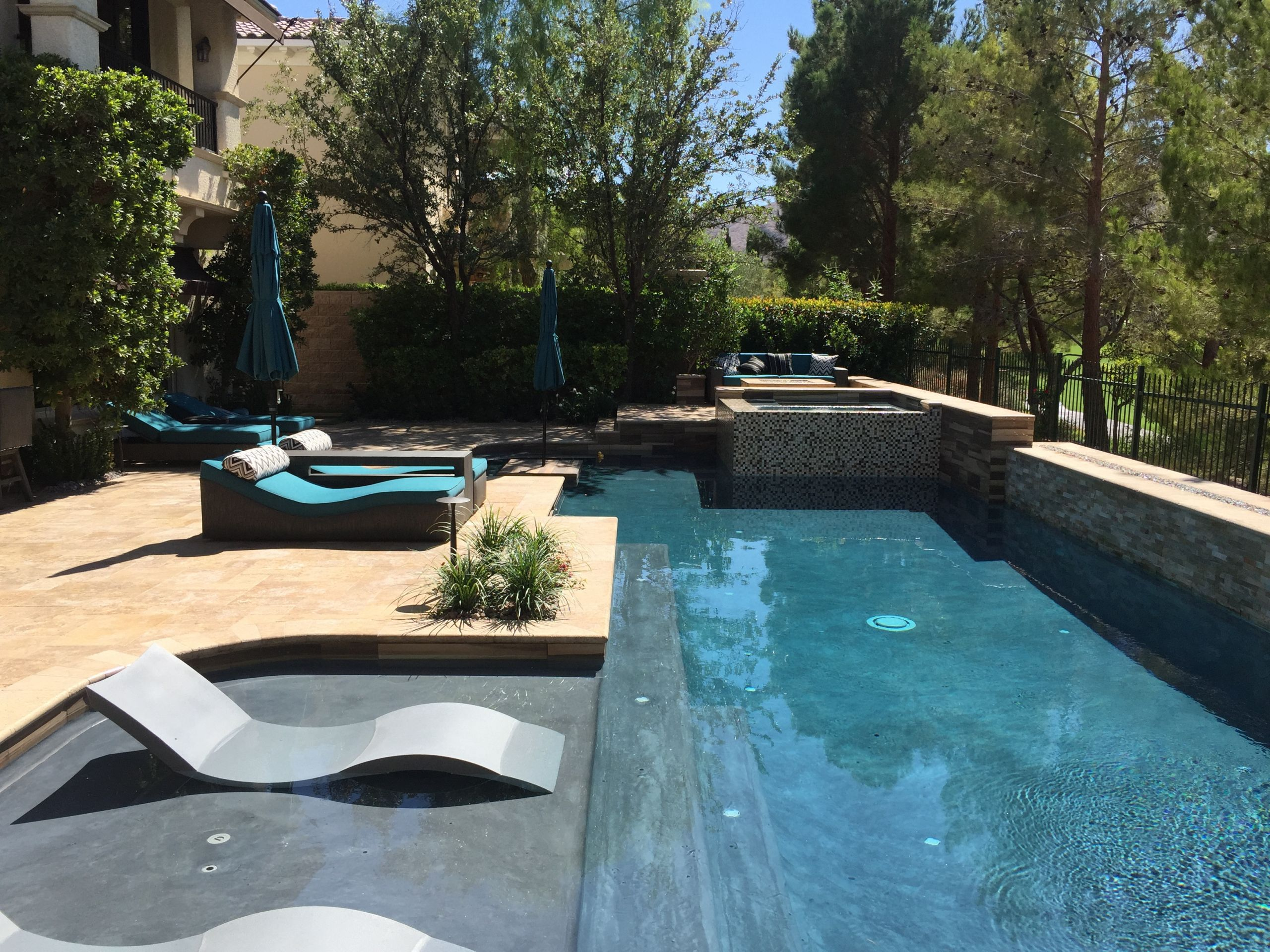 Pool Landscape Design  Backyard Resort Las Vegas pool design pool contractor