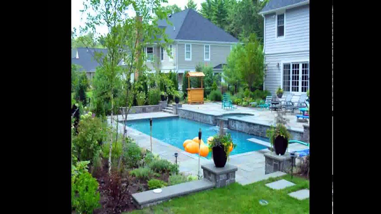 Pool Landscape Design  Inground Pool Landscape Design
