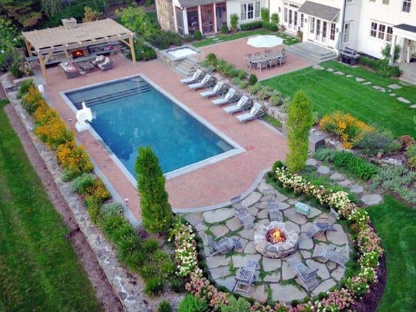 Pool Landscape Design  Top 40 Best Pool Landscaping Ideas Aesthetic Outdoor