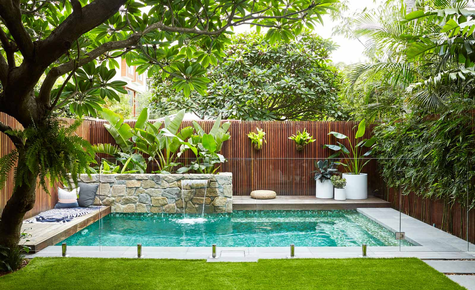 Pool Landscape Design  Trees South Africa Landscapingwith trees around a