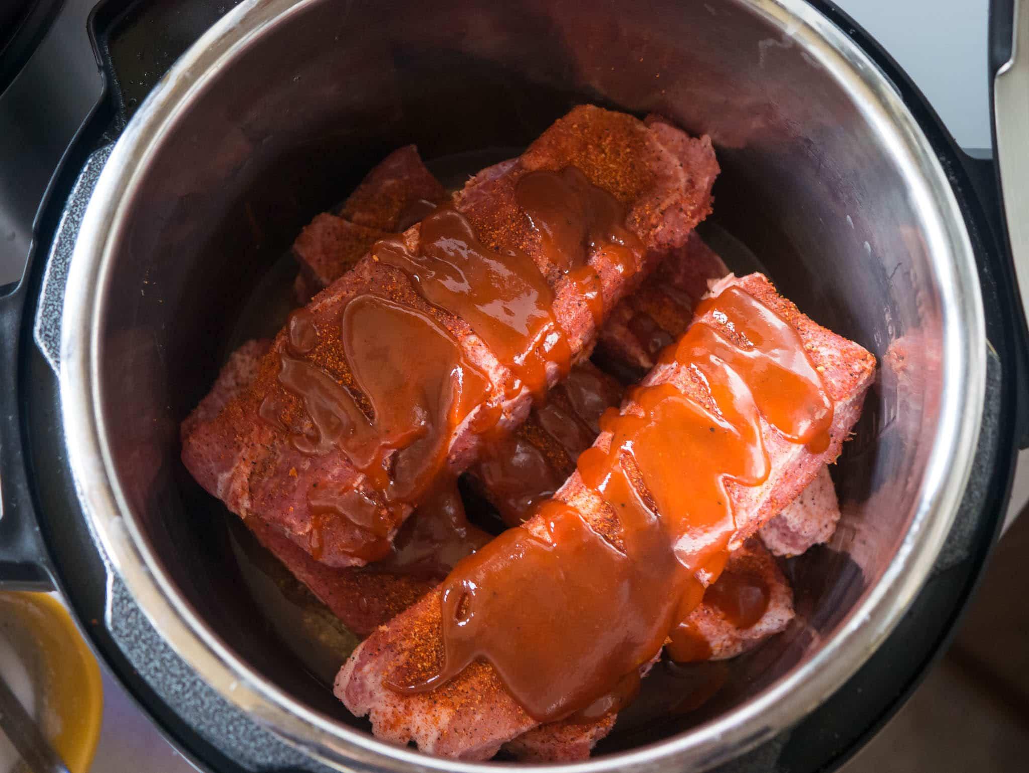 Pork Shoulder In Pressure Cooker  Pressure Cooker Pork Western Shoulder Ribs with Barbecue