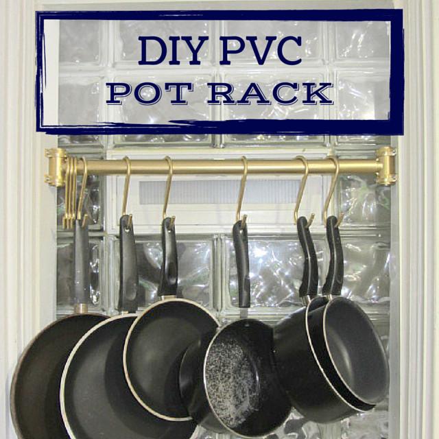 Pot Rack DIY  DIY PVC Pot Rack Inside the Fox Den
