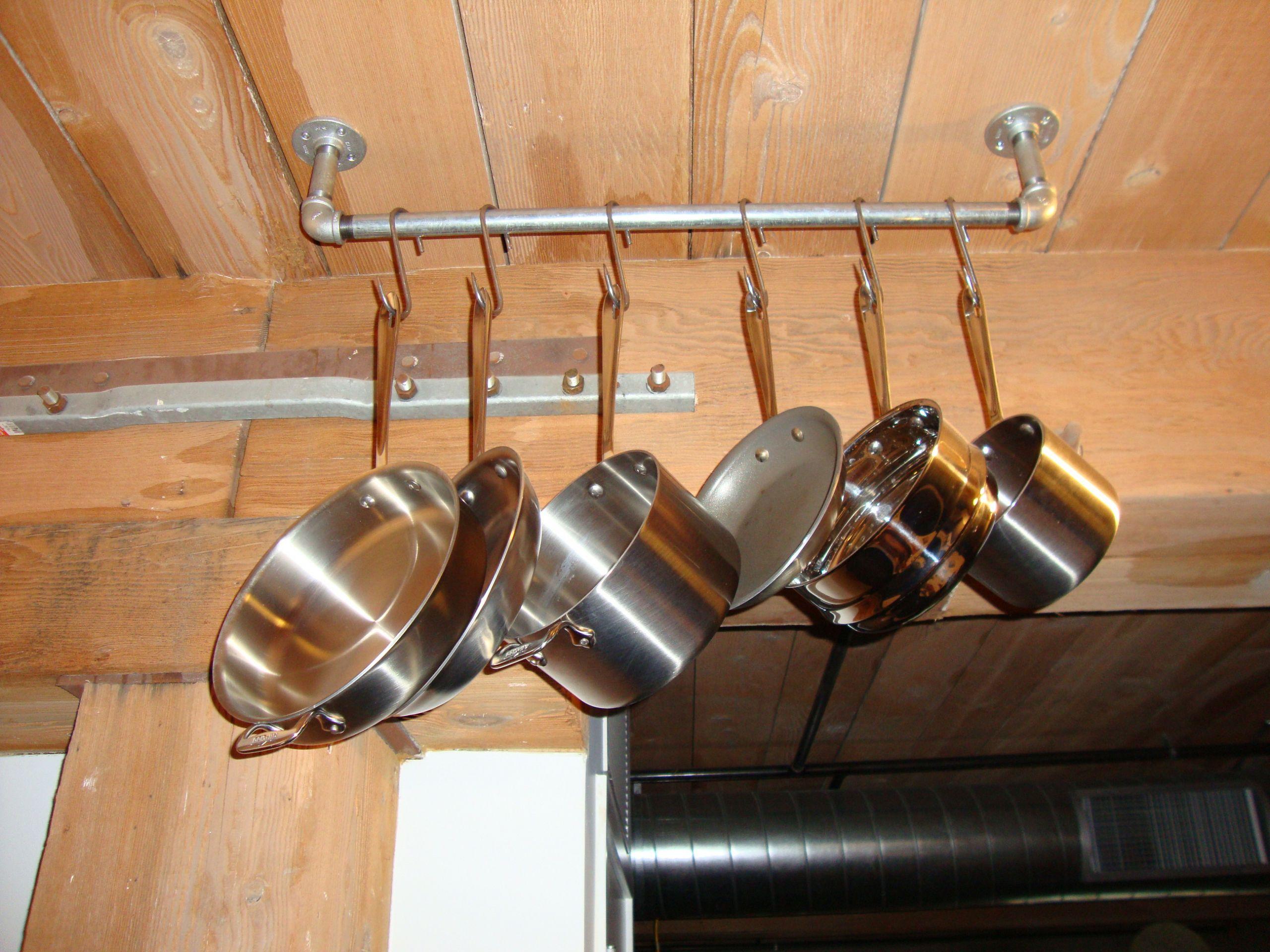Pot Rack DIY  Homemade Pot Rack