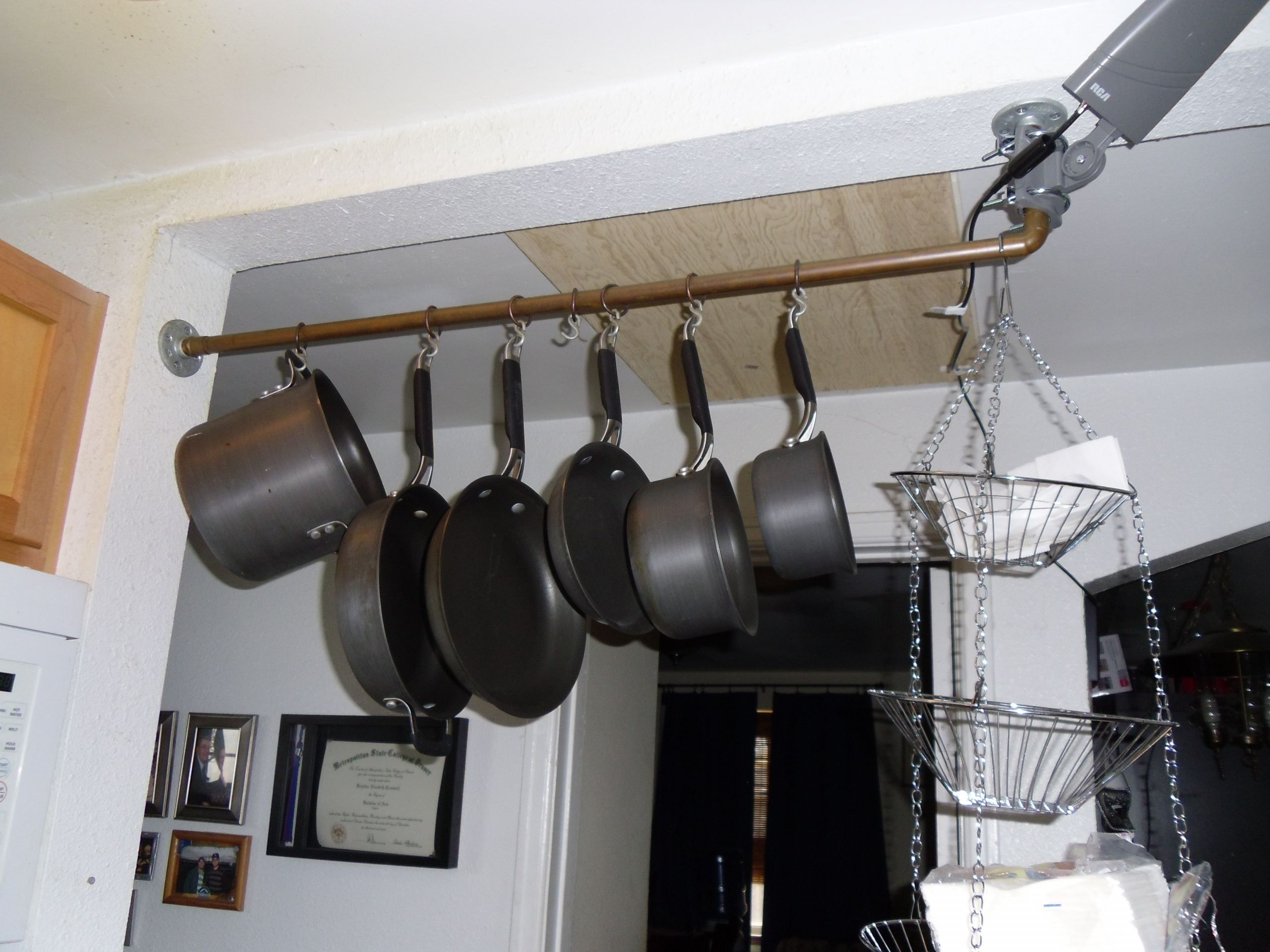 Pot Rack DIY  DIY Pot Rack