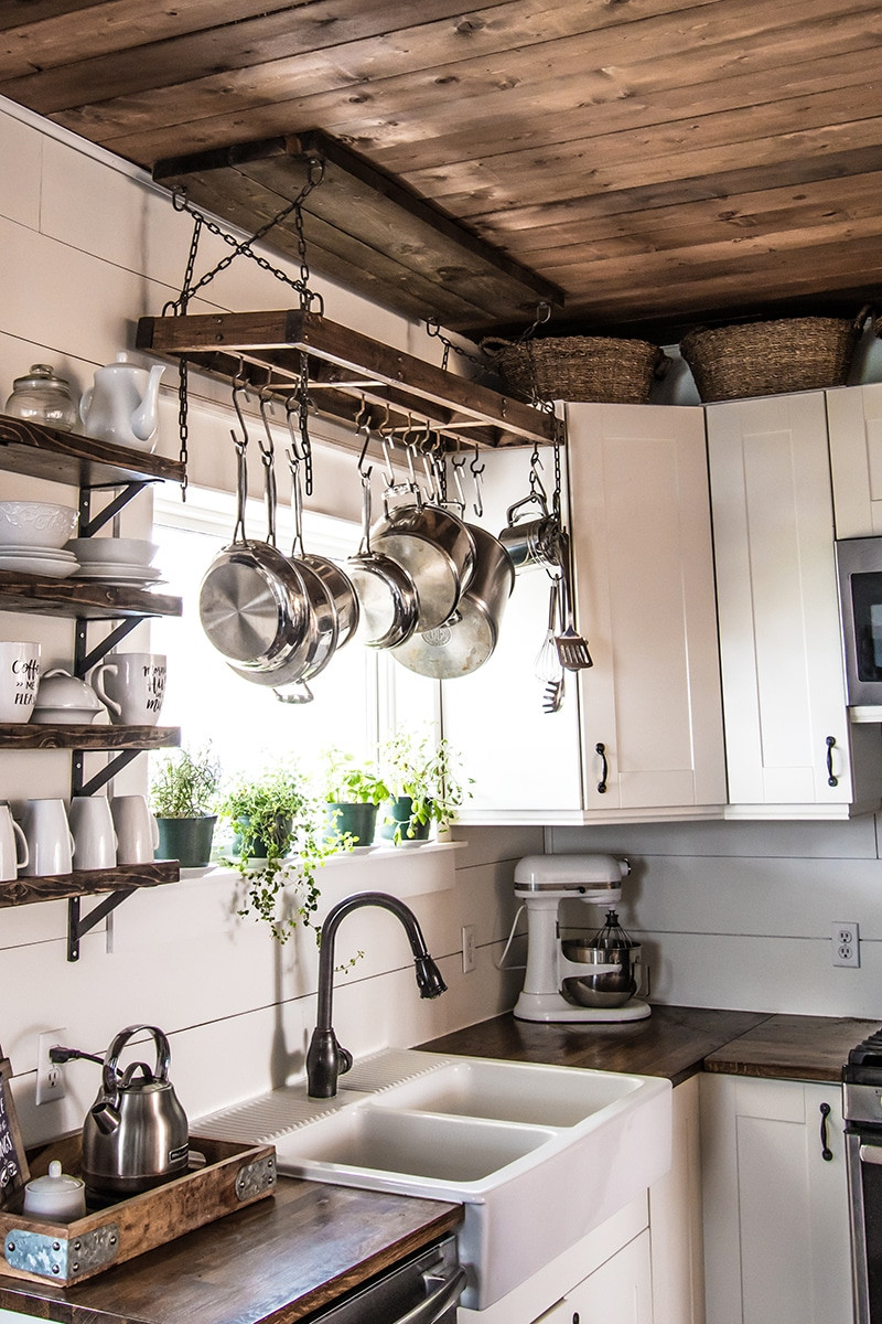 Pot Rack DIY  How to Build a DIY Pot Rack and Secure it to Your Ceiling