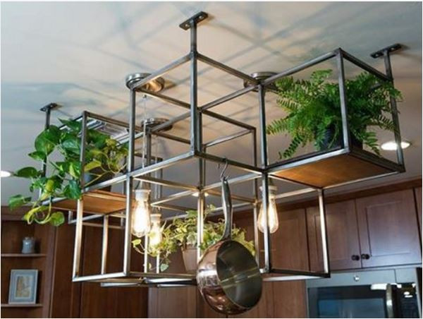 Pot Rack DIY  12 DIY pot rack projects to save space in your kitchen