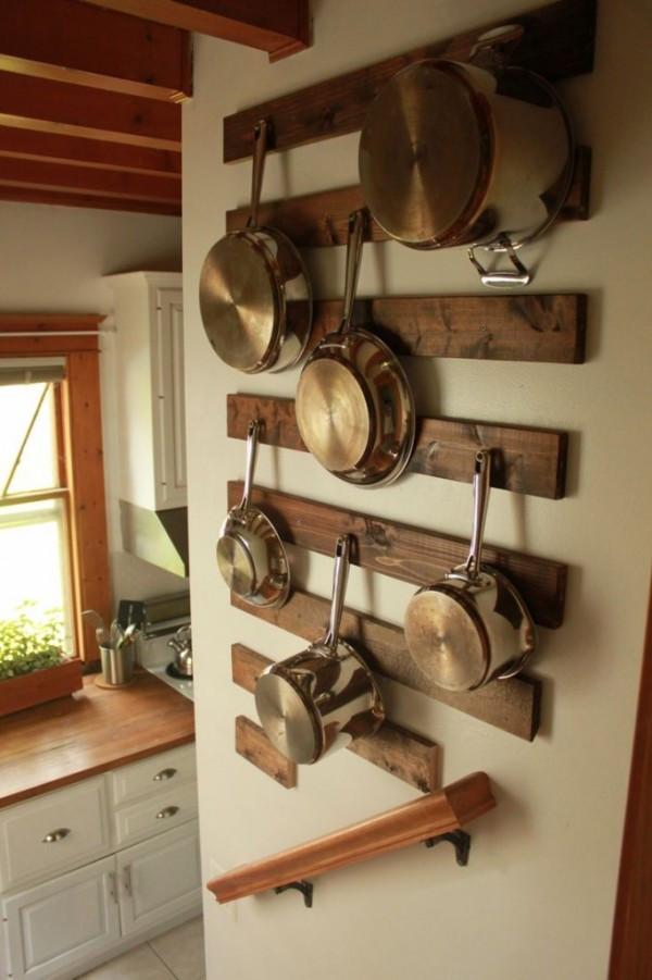 Pot Rack DIY  7 DIY Pot Racks from Recycled Items – Recycled Crafts
