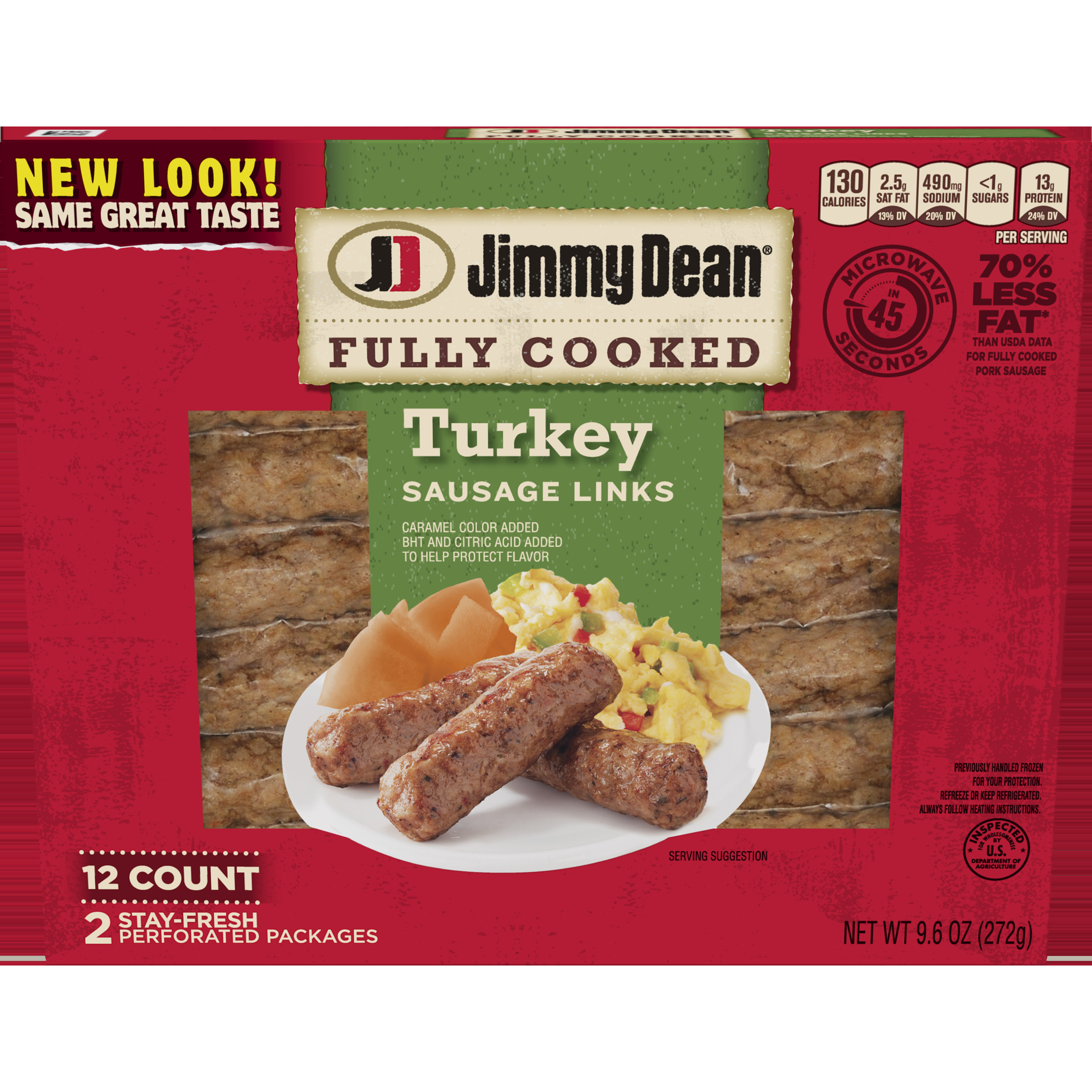 Pre Cooked Thanksgiving Dinner Walmart 2020  Jimmy Dean Fully Cooked Turkey Sausage Links 9 6 Oz 12