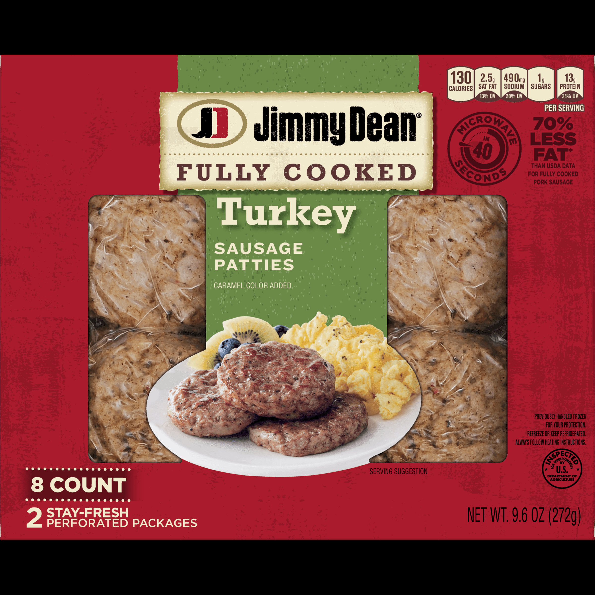 Pre Cooked Thanksgiving Dinner Walmart 2020  Jimmy Dean Fully Cooked Turkey Sausage Patties 8 Count