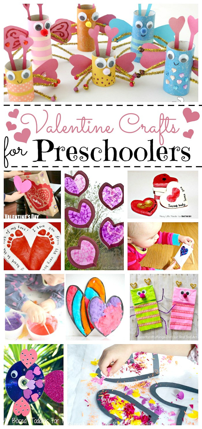 Preschool Art Project Ideas  Valentine Crafts for Preschoolers Red Ted Art Make