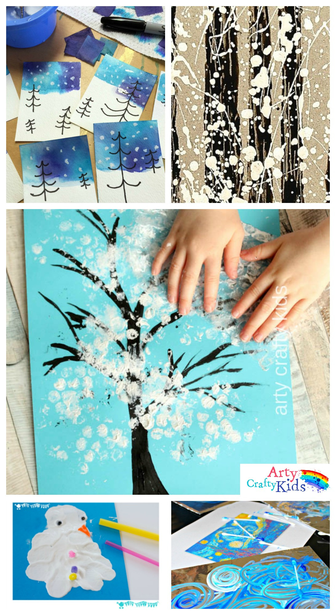 Preschool Art Project Ideas  14 Wonderful Winter Art Projects for Kids