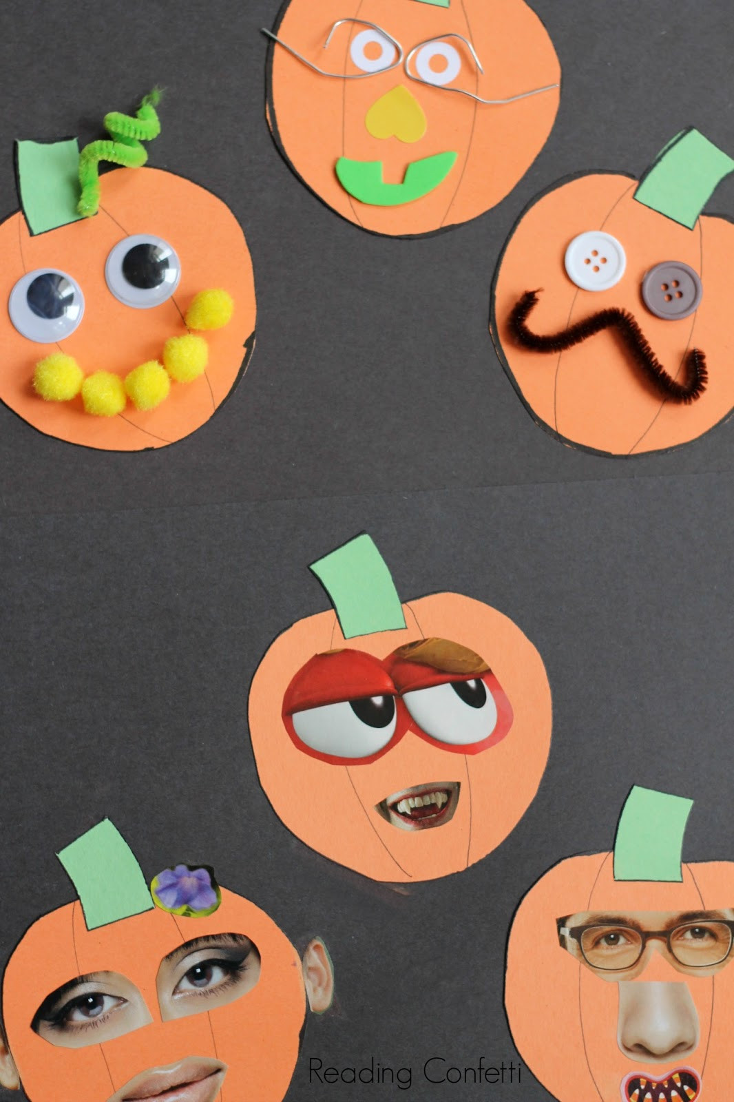 Preschool Art Project Ideas  Jack o Lantern Collages Preschool Craft Reading Confetti