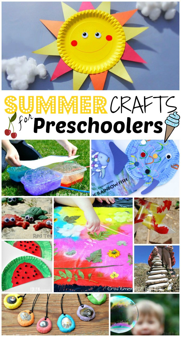 Preschool Art Project Ideas  Summer Crafts for Preschoolers Red Ted Art s Blog