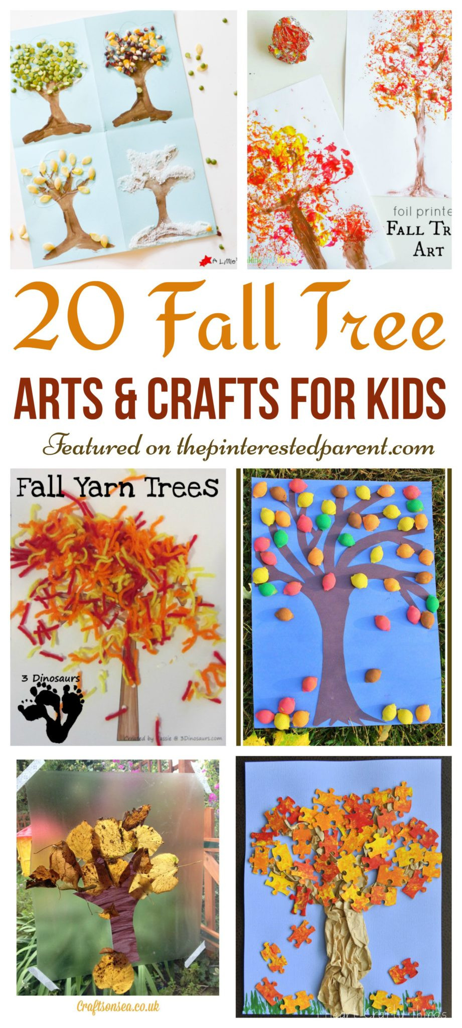 Preschool Art Project Ideas  20 Fall Tree Arts & Crafts Ideas For Kids – The