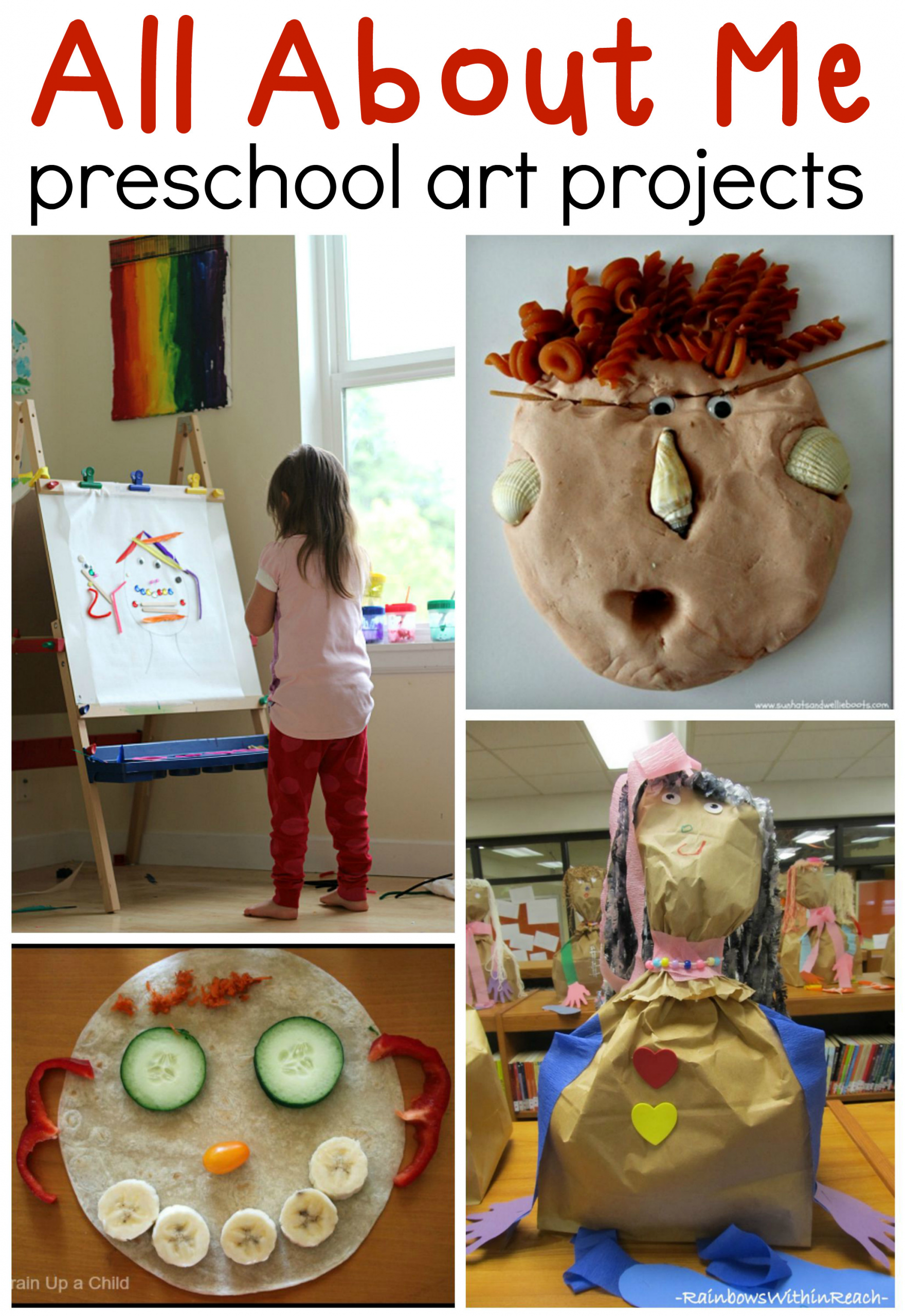 Preschool Art Project Ideas  All about me preschool art ideas The Measured Mom