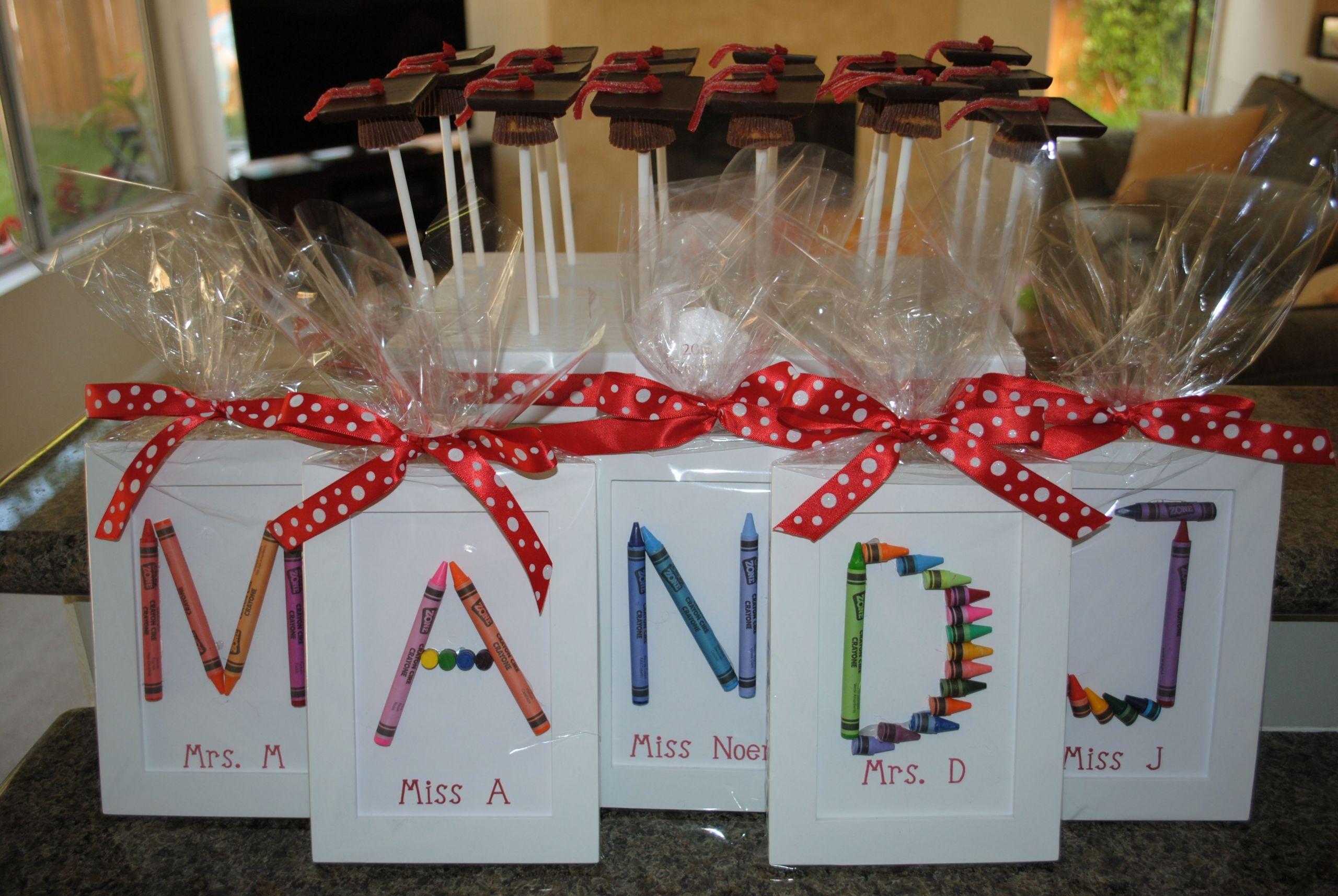 Preschool Graduation Gift Ideas From Teacher  Make for students instead of teachers Very cute
