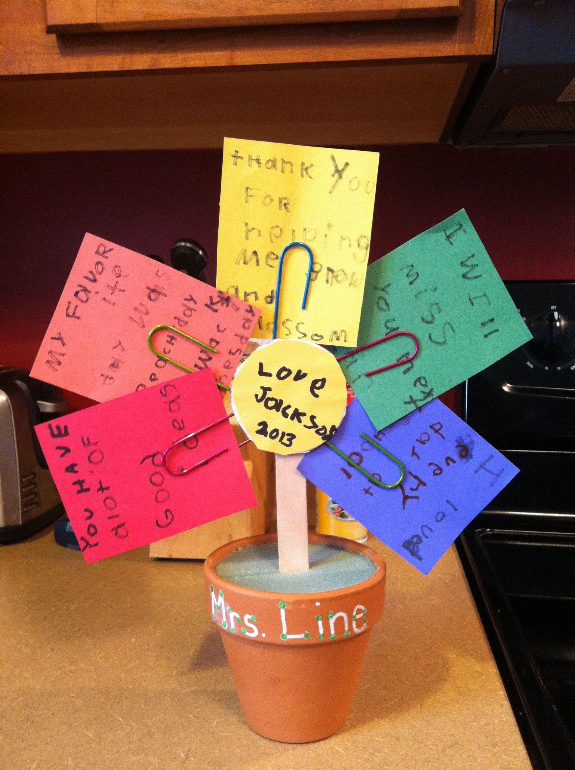 Preschool Graduation Gift Ideas From Teacher  For my son s preschool teacher End of year t