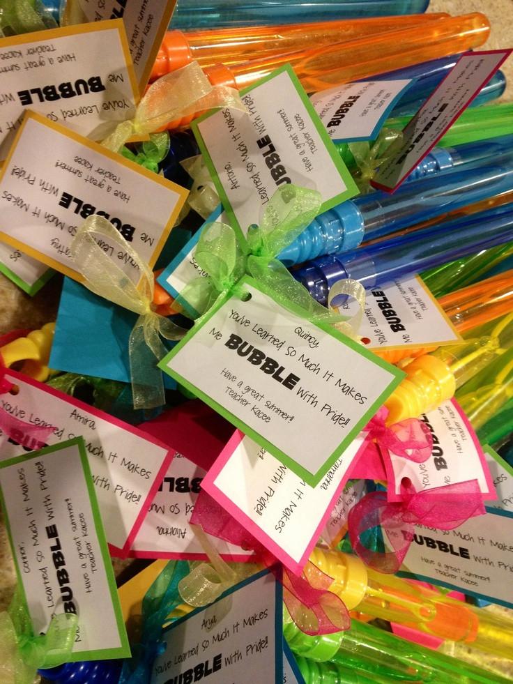 "Preschool Graduation Gift Ideas From Teacher  Graduation Gift Bubble Wands ""You learned so much it"