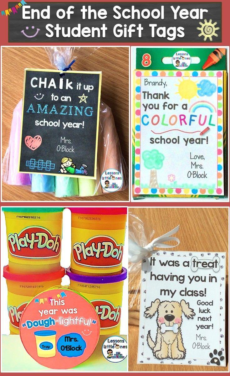 Preschool Graduation Gift Ideas From Teacher  End of the Year Gift Tags & Gift Ideas Editable 24