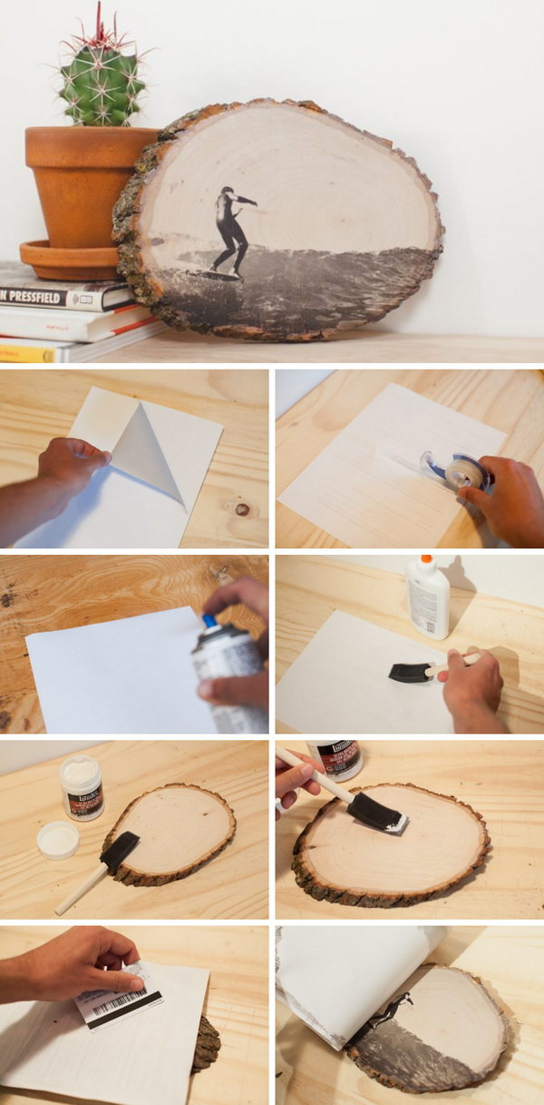 Prints On Wood DIY  50 Awesome DIY Image Transfer Projects 2017