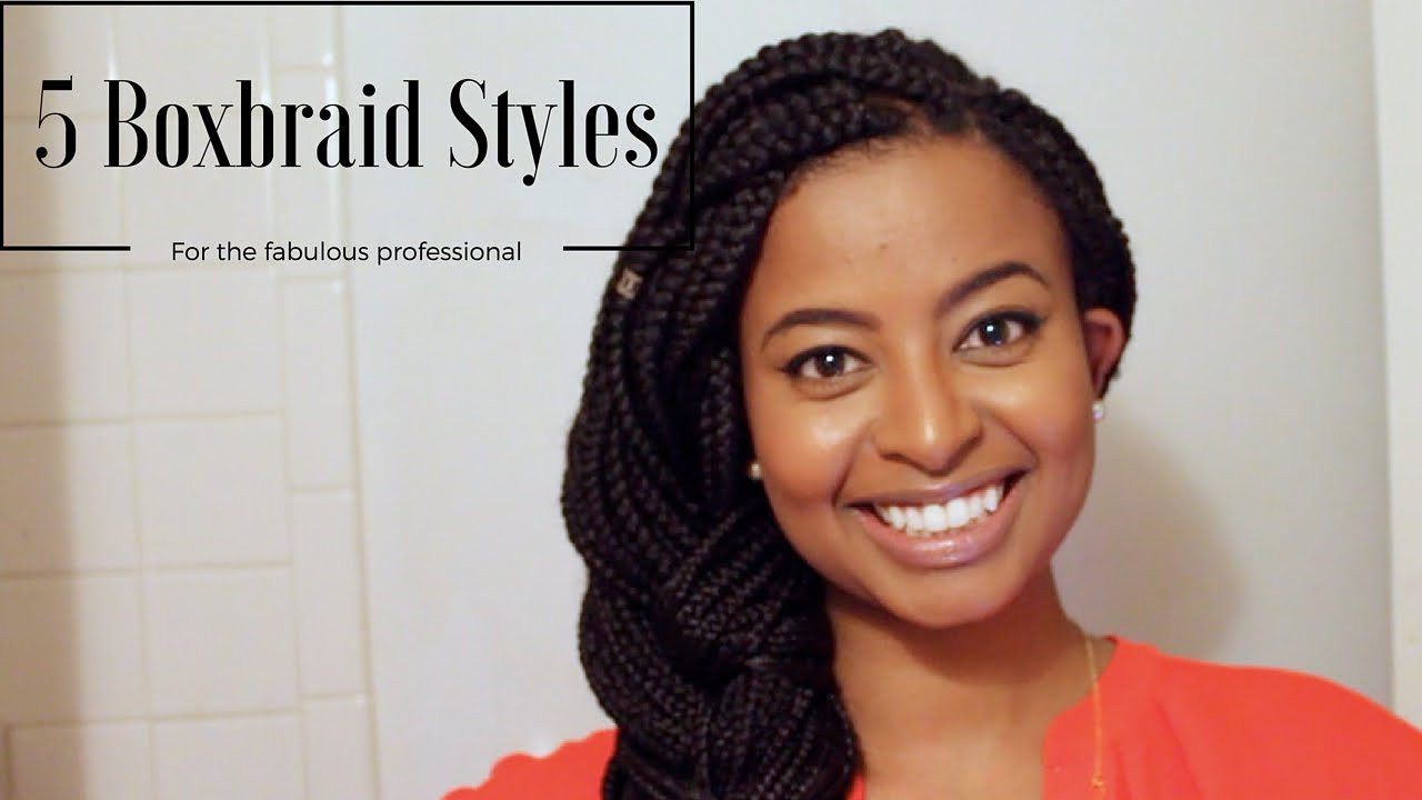 Professional Braids Hairstyles  How I Style Box Braids for Work