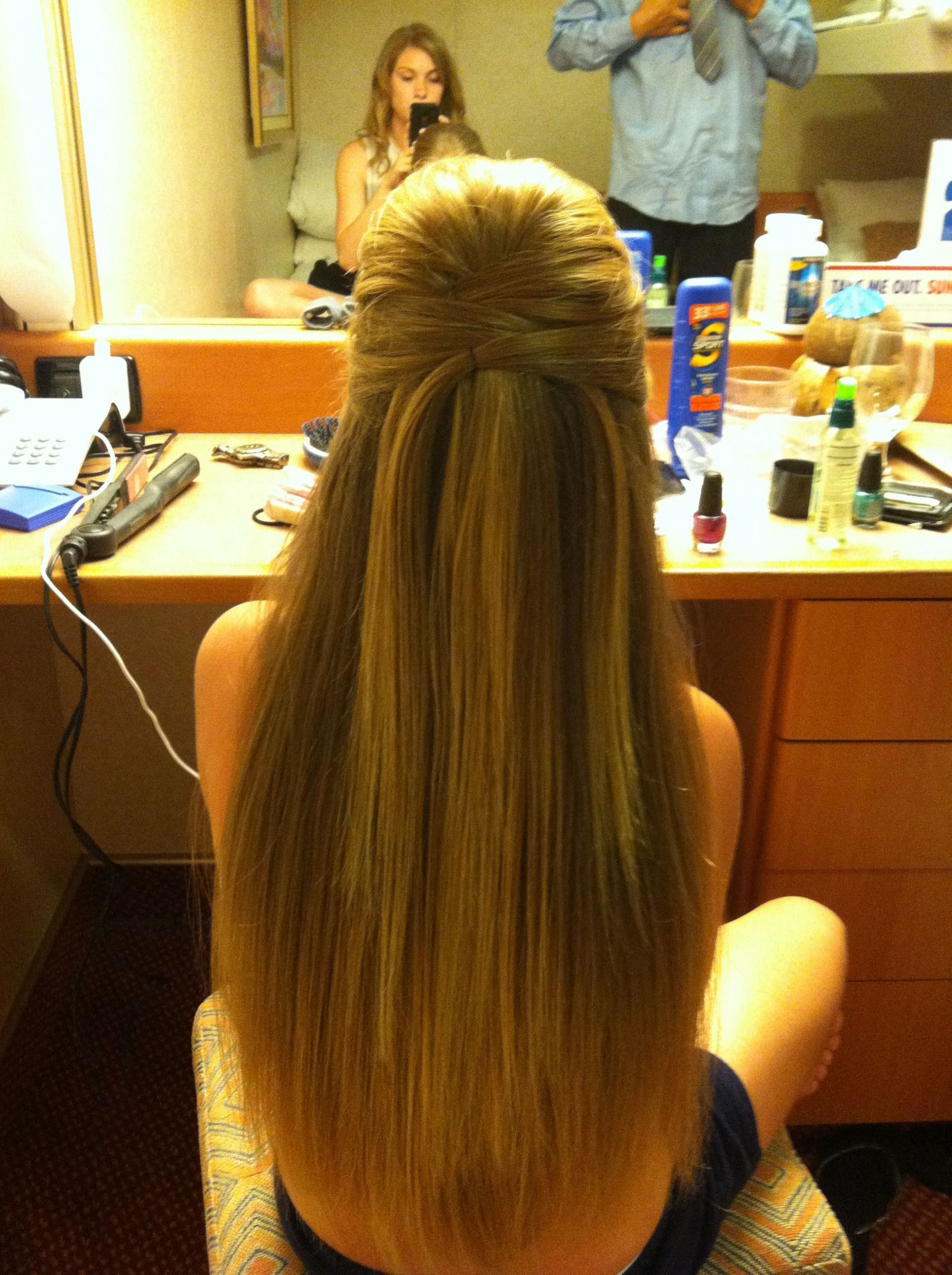 Prom Hairstyles Straight Hair  Formal hair straight with a gorgeous half up do