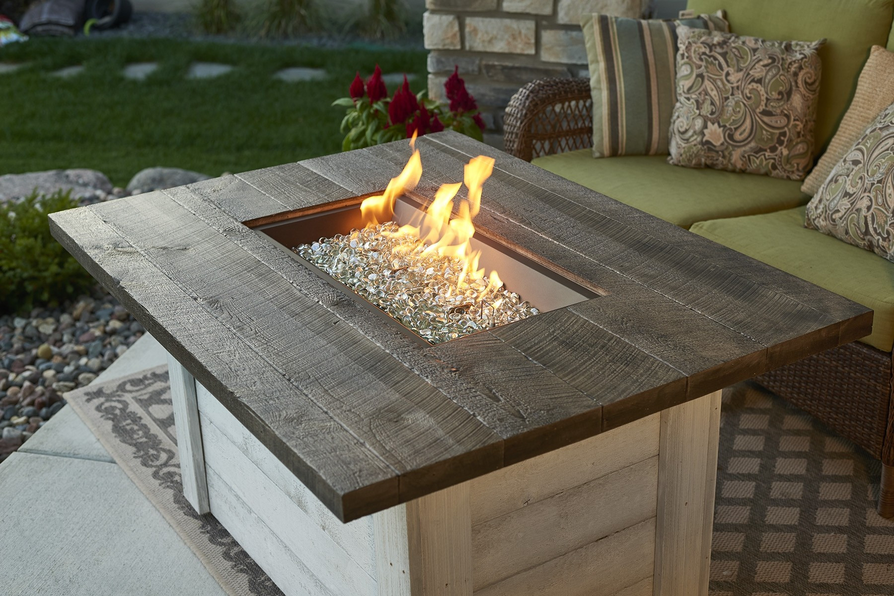 Propane Fire Pit Table  Alcott Rectangular Gas Fire Pit Table