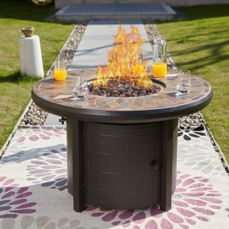 Propane Fire Pit Table  FestivalDepot Steel Propane Fire Pit Table