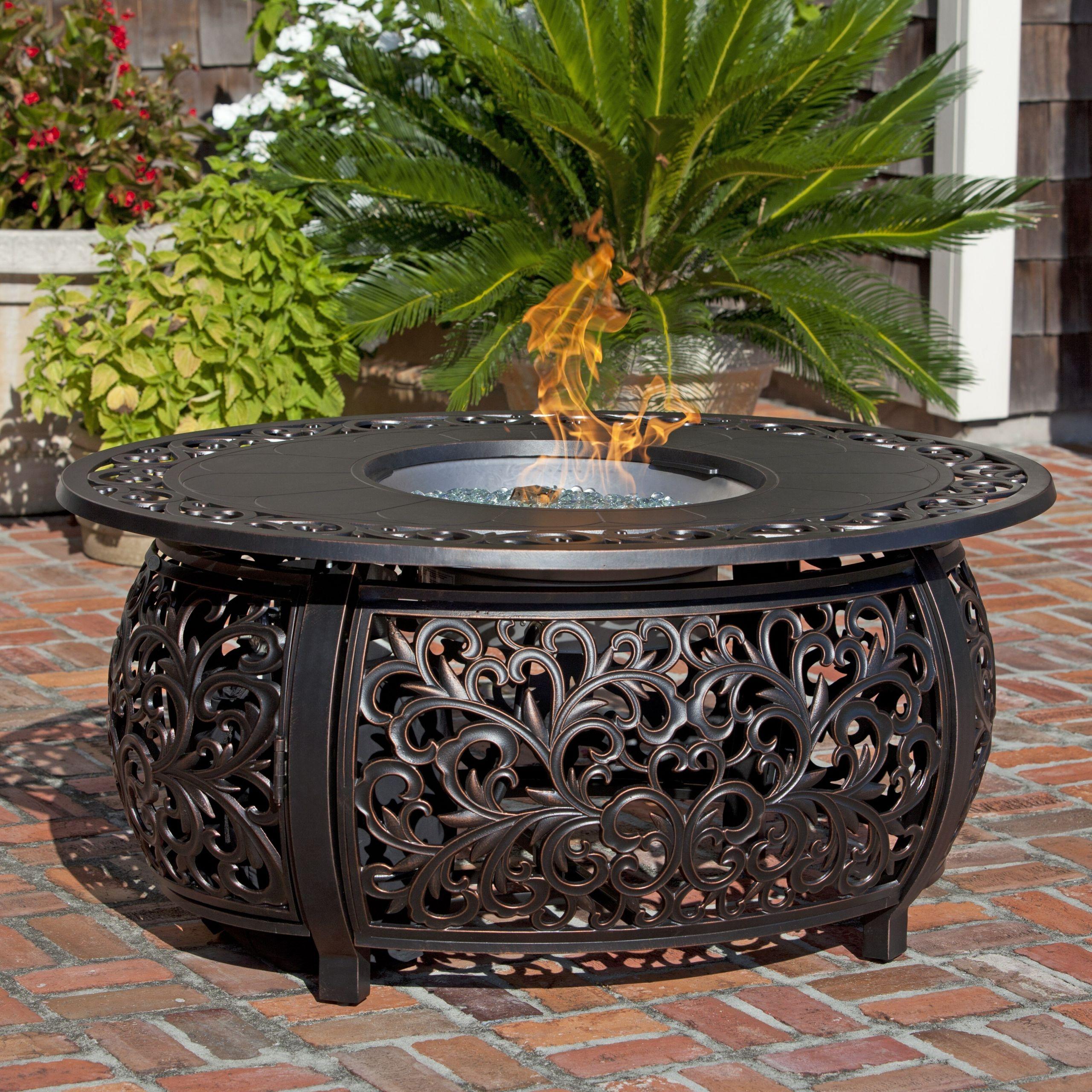 Propane Fire Pit Table  Fire Sense Toulon Propane Fire Pit Table