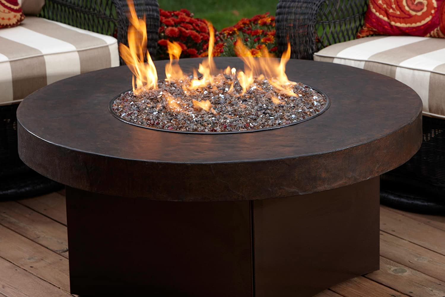 Propane Fire Pit Table  Oriflamme Gas Fire Pit Table Savanna Stone Review