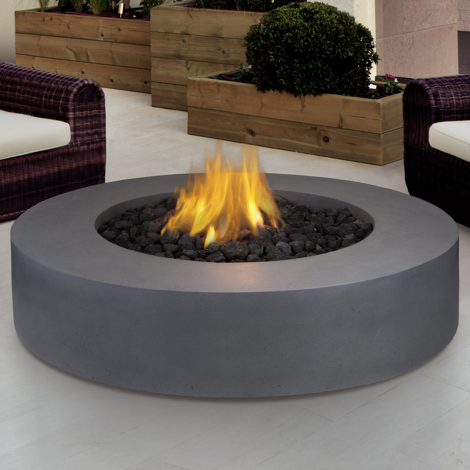 Propane Fire Pit Table  Real Flame Mezzo Propane Fire Pit Table & Reviews