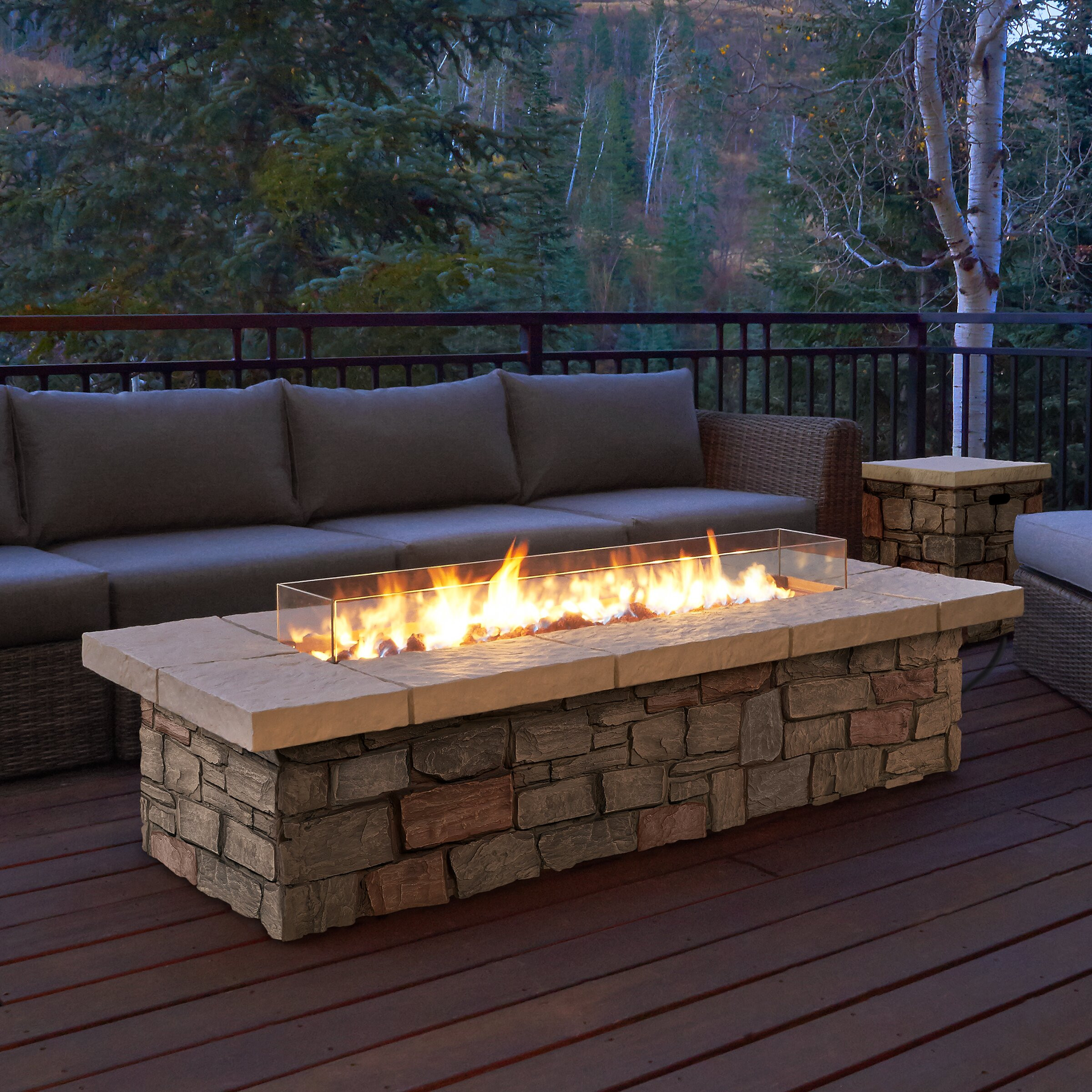 Propane Fire Pit Table  Real Flame Sedona Propane Fire Pit Table & Reviews