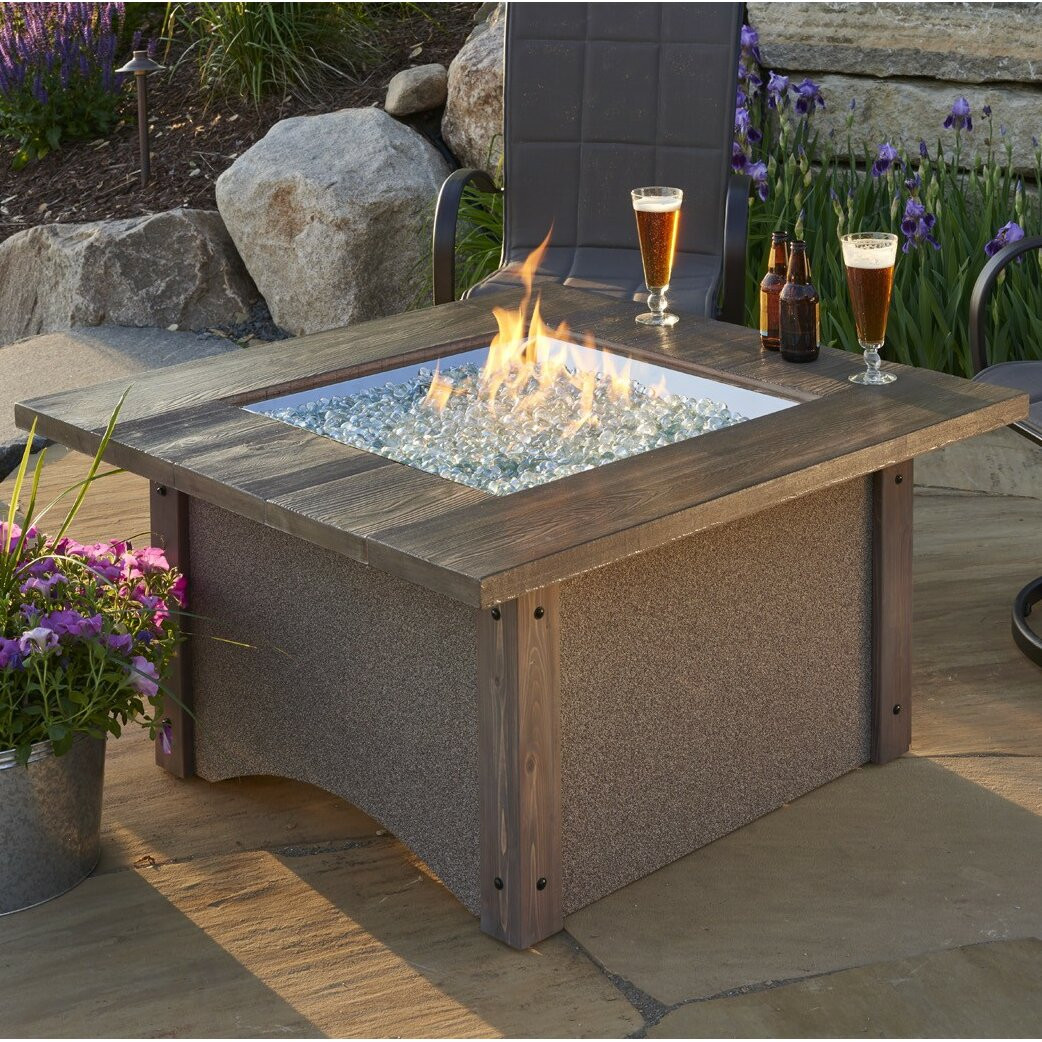 Propane Fire Pit Table  The Outdoor GreatRoom pany Pine Ridge Propane Fire Pit