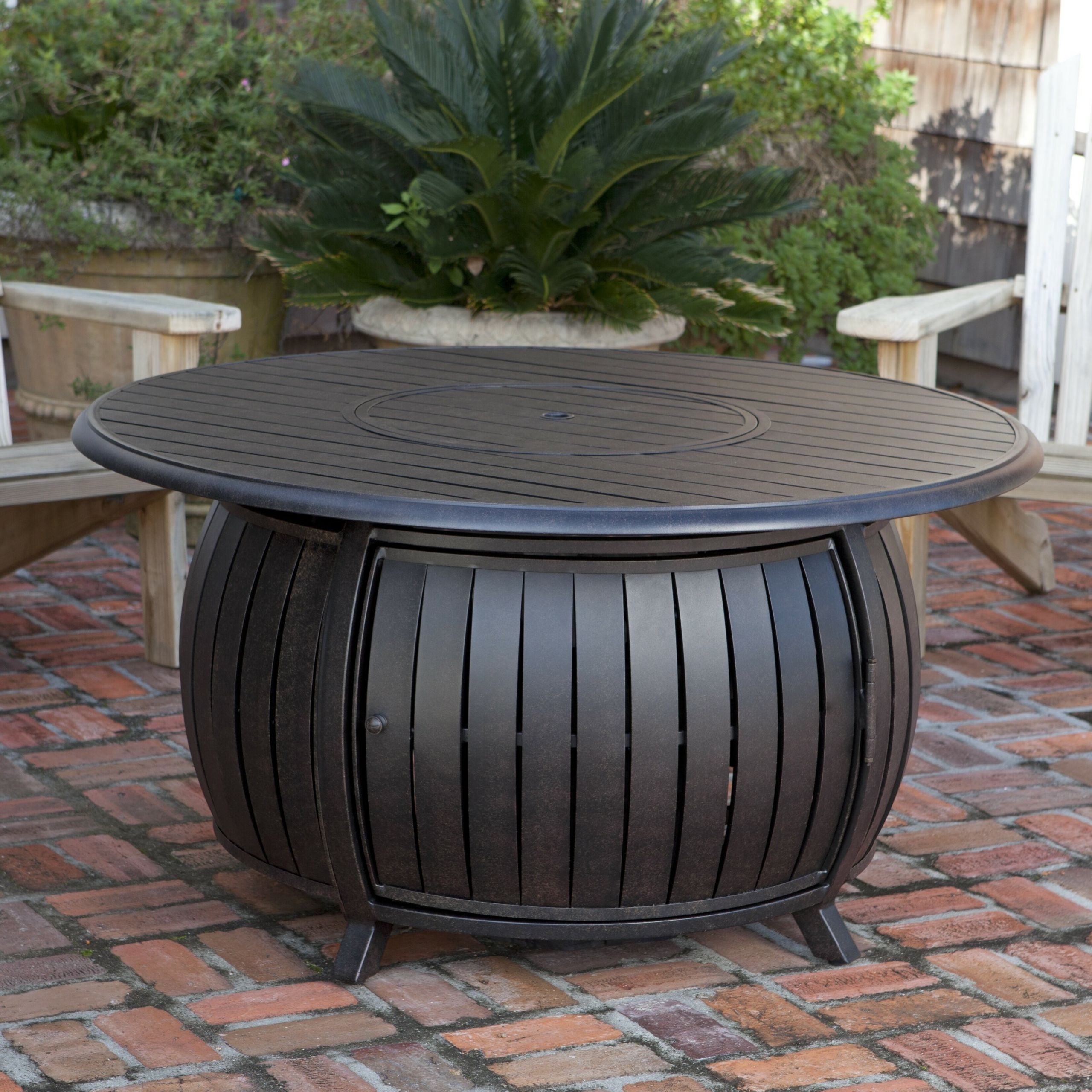 Propane Fire Pit Table  Fire Sense Extruded Aluminum Propane Fire Pit Table