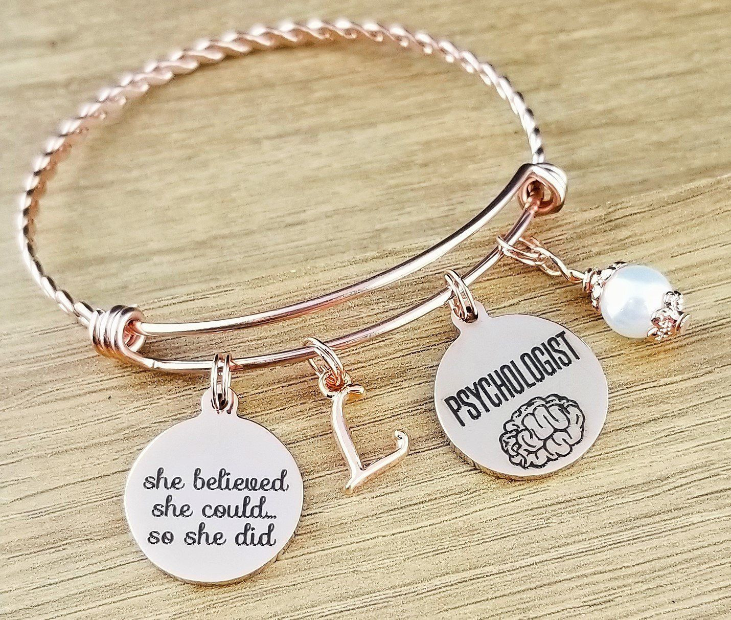 Psychology Graduation Gift Ideas  Rose Gold Psychologist Gift Graduation Gift for
