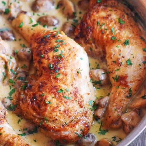 Quick Chicken Legs Recipes  Easy Chicken Legs with Creamy Mushroom Sauce Julia s Album