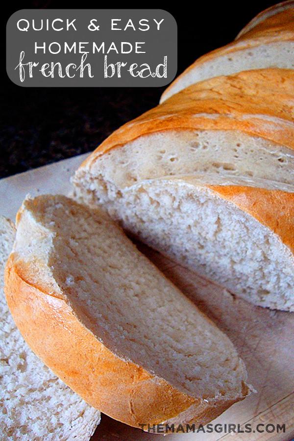 Quick Easy Bread Recipe  Quick & Easy Homemade French Bread