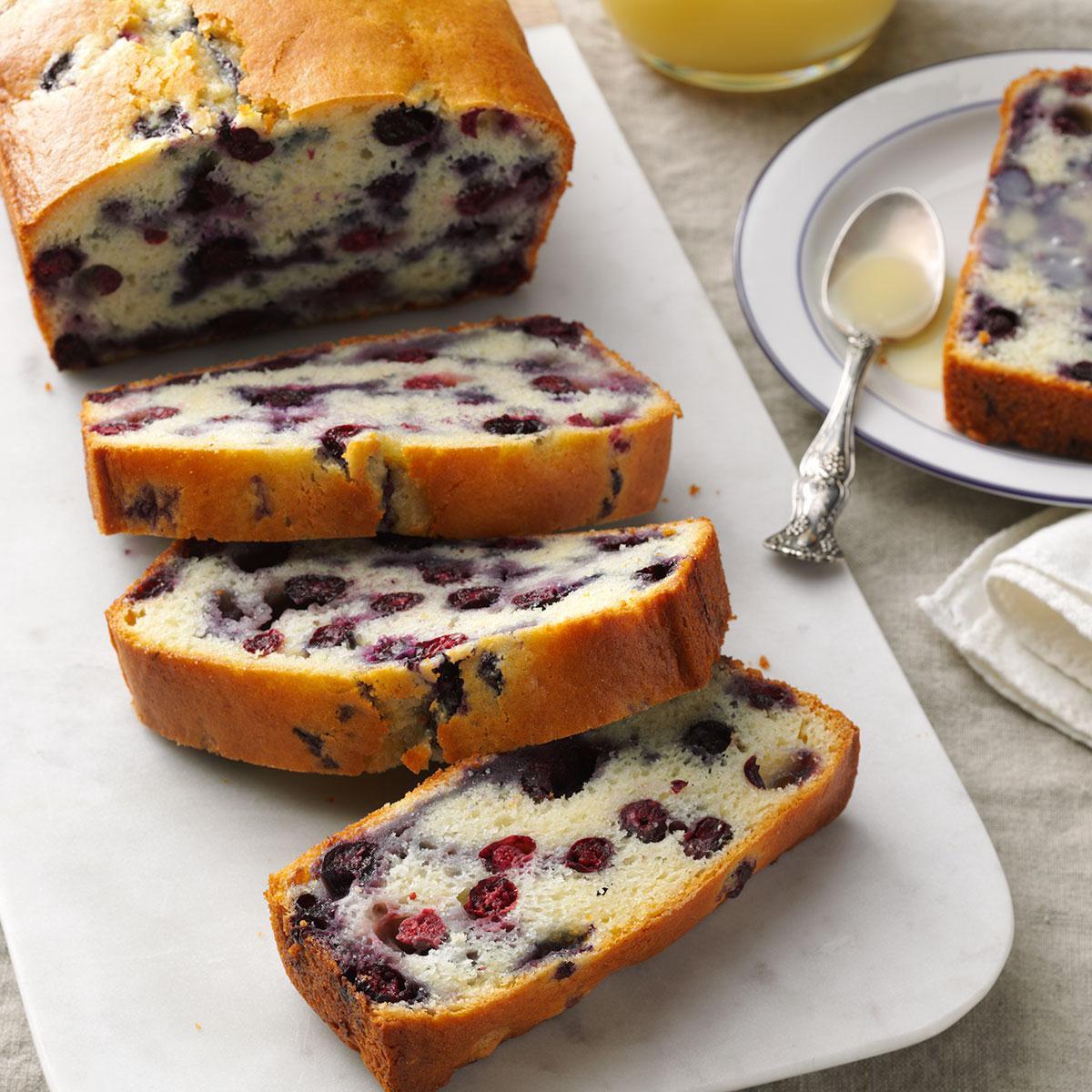 Quick Easy Bread Recipe  Blueberry Quick Bread with Vanilla Sauce Recipe