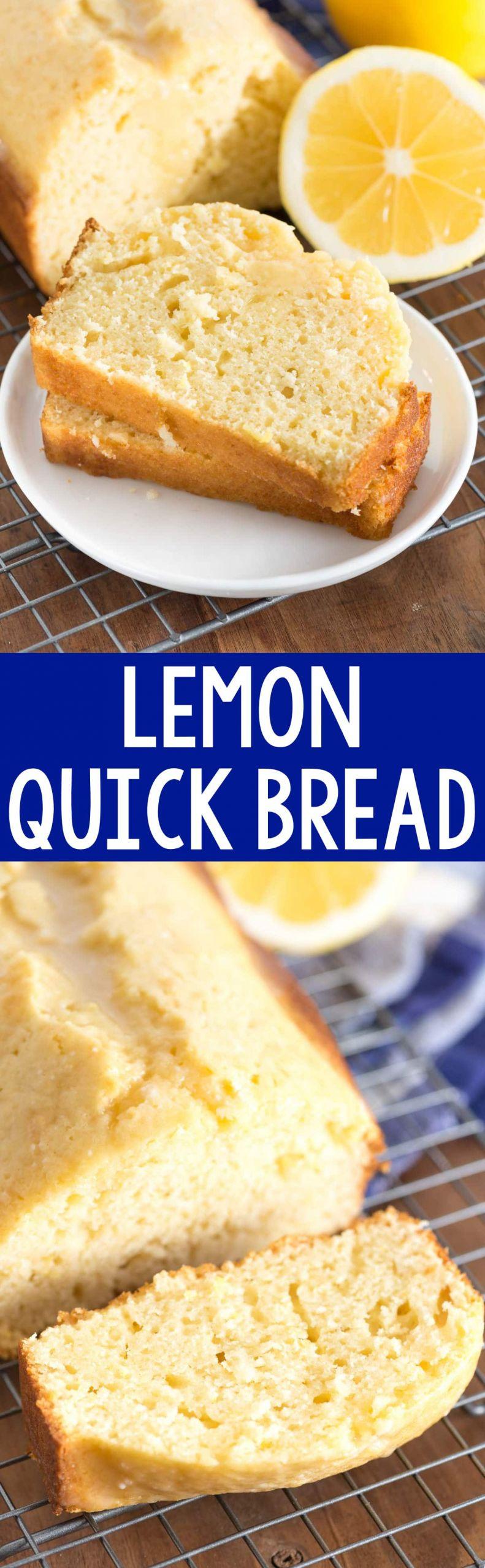 Quick Easy Bread Recipe  Lemon Quick Bread Crazy for Crust