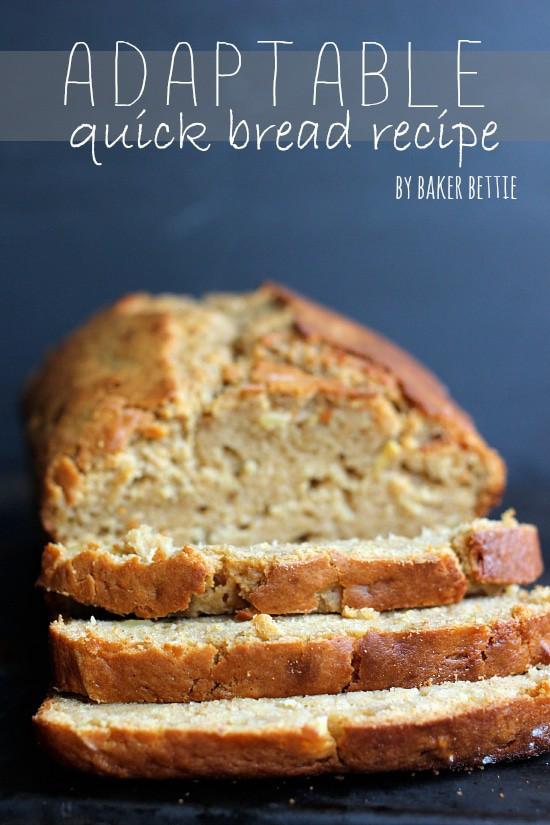 Quick Easy Bread Recipe  Basic Quick Bread Recipe Baker Bettie