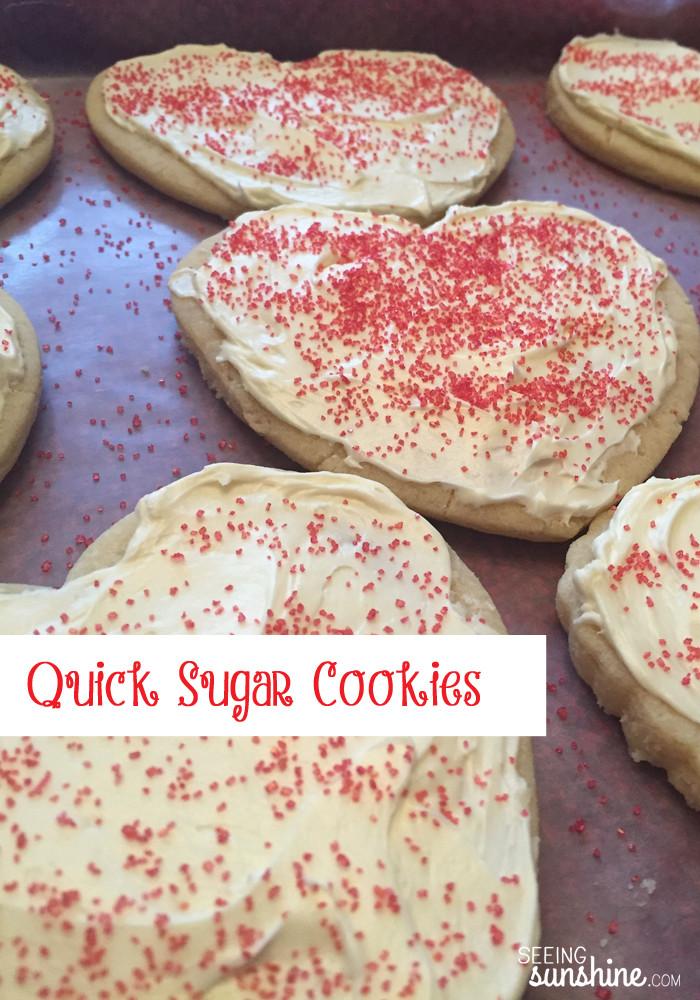 Quick Easy Sugar Cookies  Quick & Easy Sugar Cookies Seeing Sunshine Blog