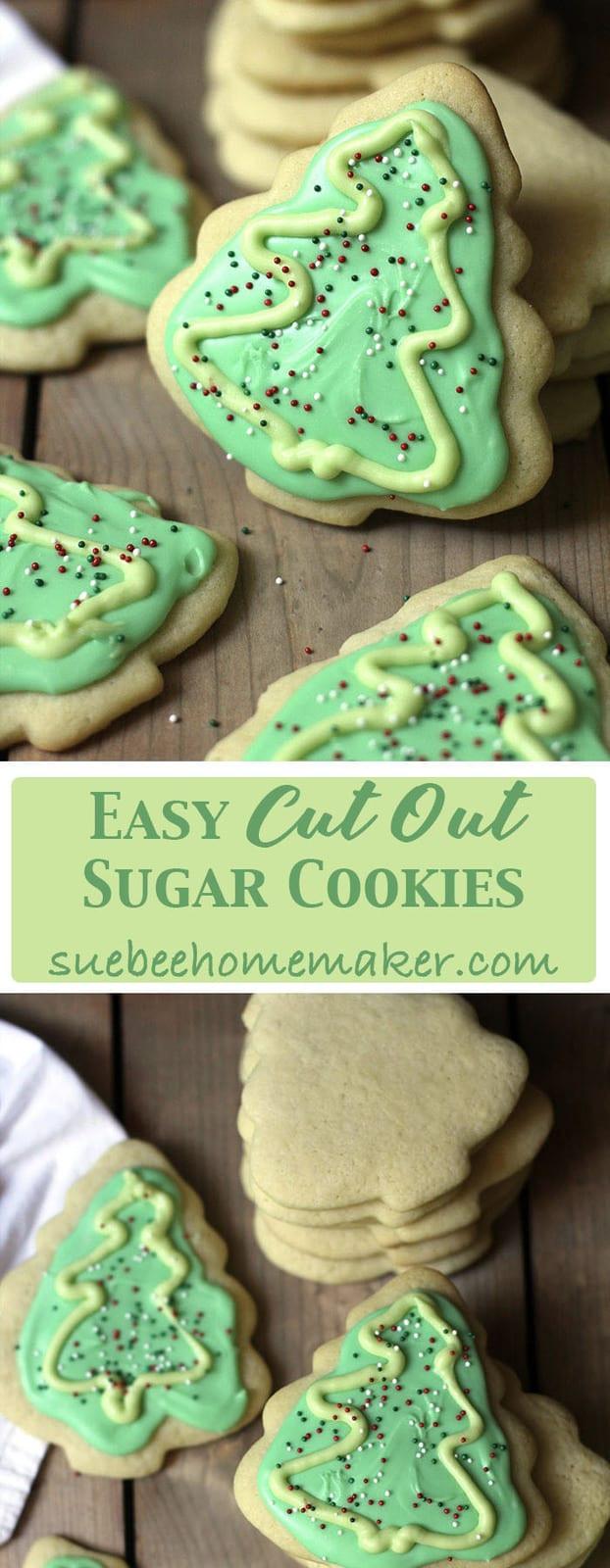 Quick Easy Sugar Cookies  Easy Cut Out Sugar Cookies SueBee Homemaker