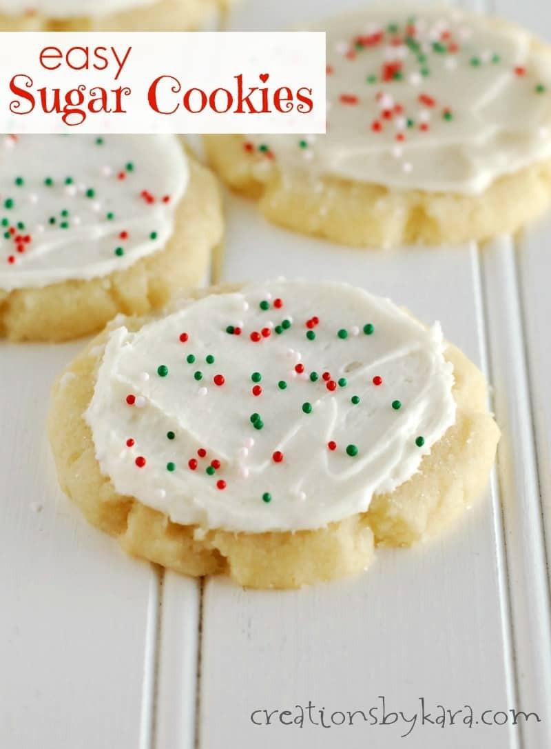 Quick Easy Sugar Cookies  Easy Sugar Cookies